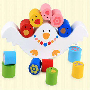 Équilibre en bois multifonctions Bird Balance Early Education Puzzle Toy - [