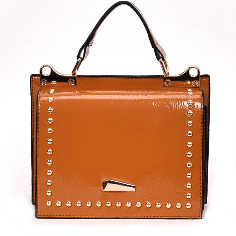 Single Shoulder Bright Side Bag - ORANGE SALMON
