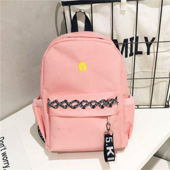 Large and Simple Backpack - MISTY ROSE