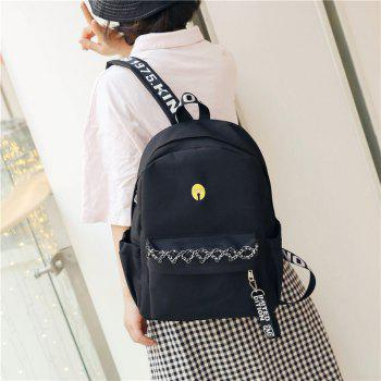 Large and Simple Backpack - BLACK