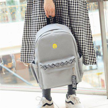 Large and Simple Backpack - GRAY CLOUD