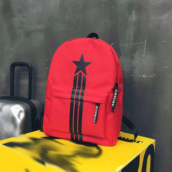 Large Capacity Simple Canvas Backpack - LAVA RED