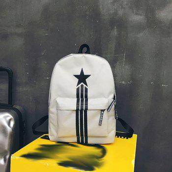 Large Capacity Simple Canvas Backpack - PLATINUM
