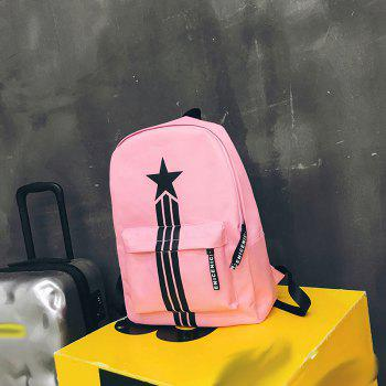 Large Capacity Simple Canvas Backpack - PINK