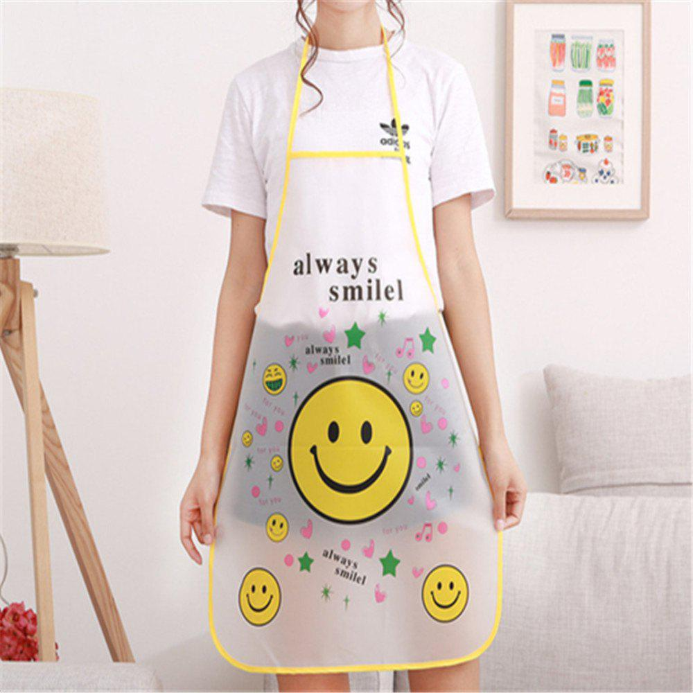 Waterproof Kitchen Oil-Free Sleeveless Easy To Clean Aprons - multicolor B
