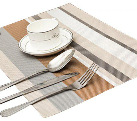 Odorless Waterproof Insulation Stripe Placemat Pad - COFFEE