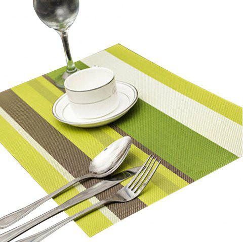Odorless Waterproof Insulation Stripe Placemat Pad - FERN GREEN
