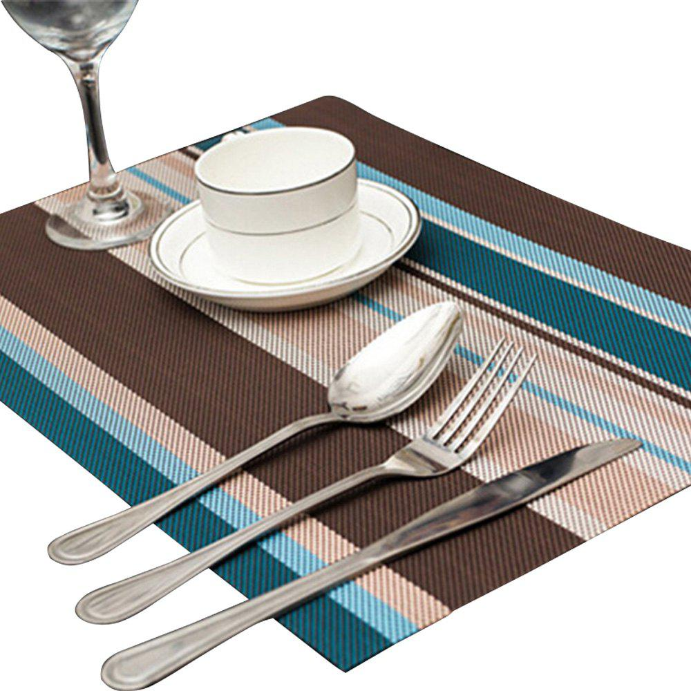 Odorless Waterproof Insulation Stripe Placemat Pad - BLUE IVY
