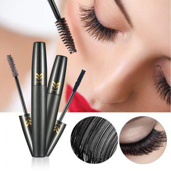 HUAMIANLI Black 3D Mascara and Natural Fiber Eyelash Waterproof Curling Colossal Lengthening Cosmetic 2PCS - BLACK