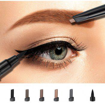 HUAMIANLI Long-lasting Waterproof Doulble-end Eyebrow Eyeliner 2 in 1 Pencil Makeup Cosmetic Tools - GRAY