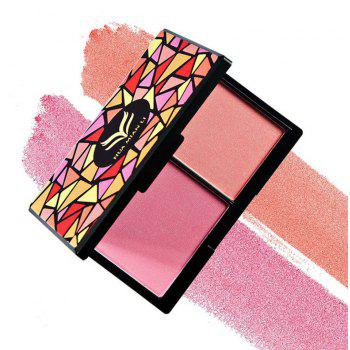 HUAMIANLI Double Color Matte Face Blush Powder Makeup Palette Cosmetic Kit -