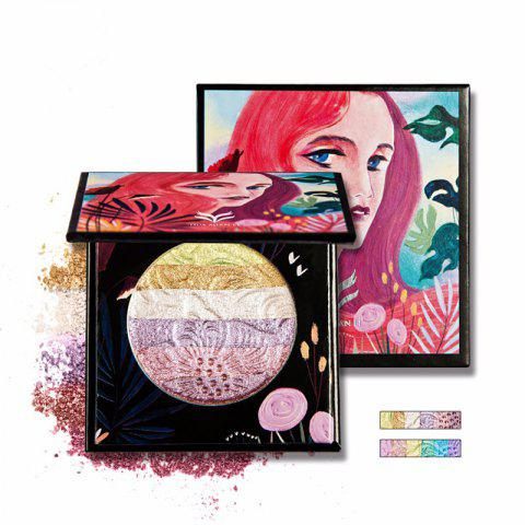 HUAMIANLI Rainbow Highlighter Blush Face Pressed Eyeshadow Powder Palette Make Up Cosmetics - 001