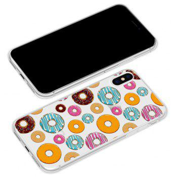 Donuts Back Case Transparent Soft TPU for iPhone  X - TRANSPARENT
