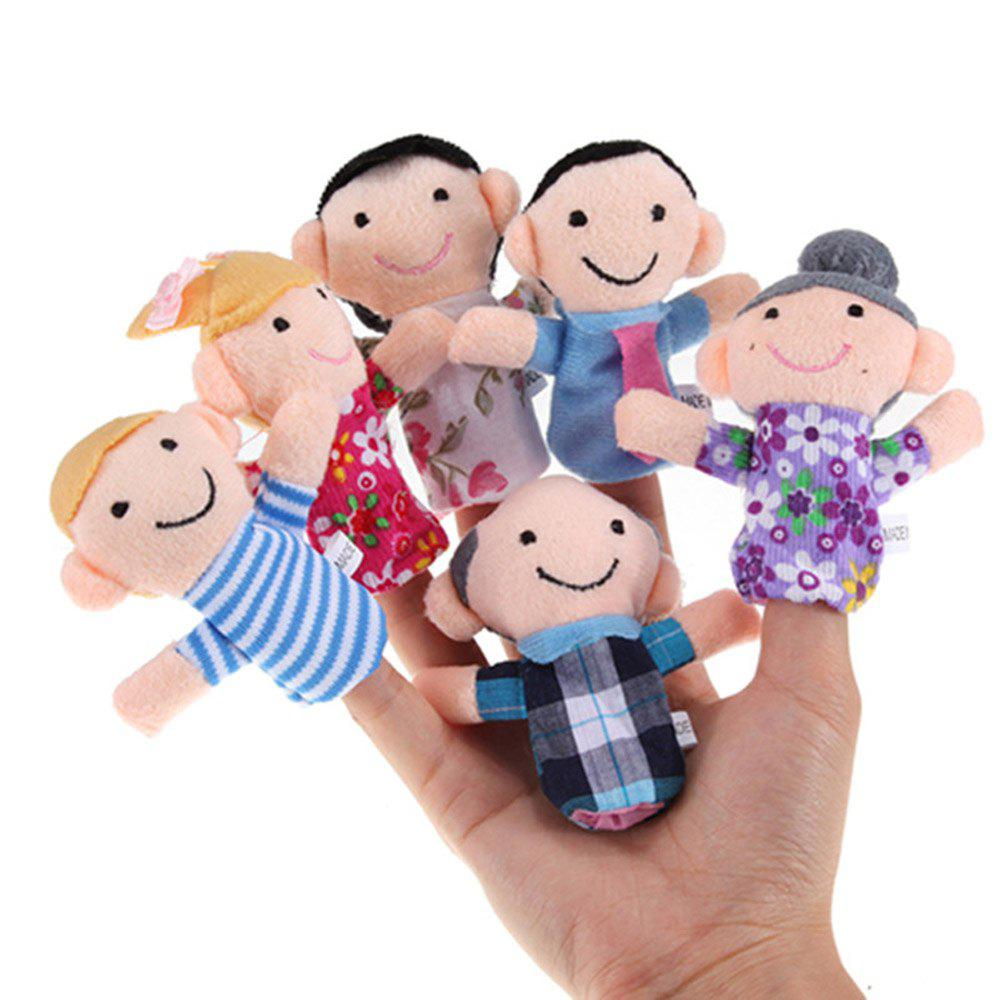 Family Finger Puppets Cloth Doll Baby Educational Hand Toy Story - multicolor A