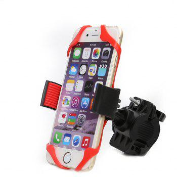 360 Degree Adjustable Bicycle Phone Holder Motorcycle Bike Handlebar Universal Smartphone Mount for Bike GPS Navigation - RED