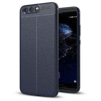 MSV PU Leather Back Case for Huawei P10 Soft TPU Luxury Cover Shockproof Mobile Phone Cases Silicone Shell For Huawei P1 - DARK SLATE BLUE
