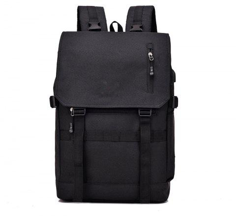 USB Computer Folding Smart Bluetooth Positioning Travel Backpack - BLACK