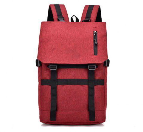 Sac à dos de voyage intelligent de positionnement de Bluetooth d'ordinateur d'USB - Rouge