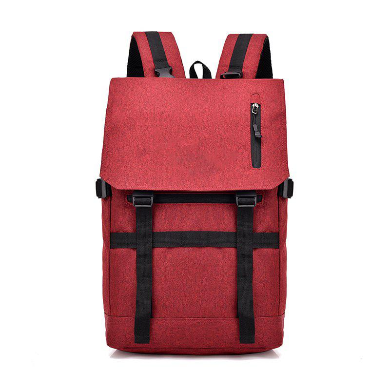 USB Computer Folding Smart Bluetooth Positioning Travel Backpack - RED
