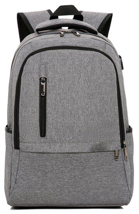 Backpack Trend Student Bag School Wind Large Capacity - GRAY