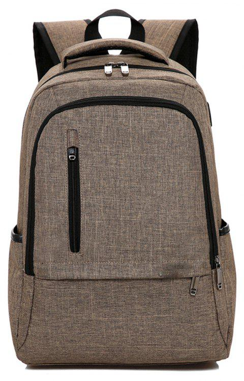 Backpack Trend Student Bag School Wind Large Capacity - SEPIA