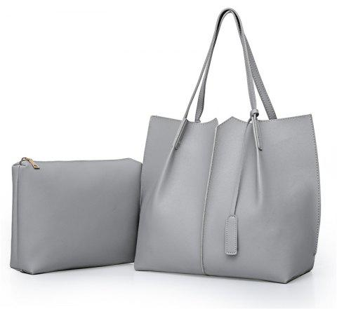 Wild Two Pieces of Simple Handbag Pu Package - GRAY