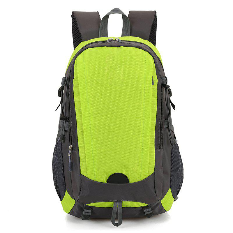 Outdoor Climbing Bag Large Capacity Waterproof Backpack - YELLOW GREEN