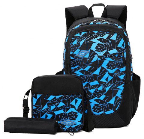 Student High-Capacity Fashion Bag Backpack - CRYSTAL BLUE