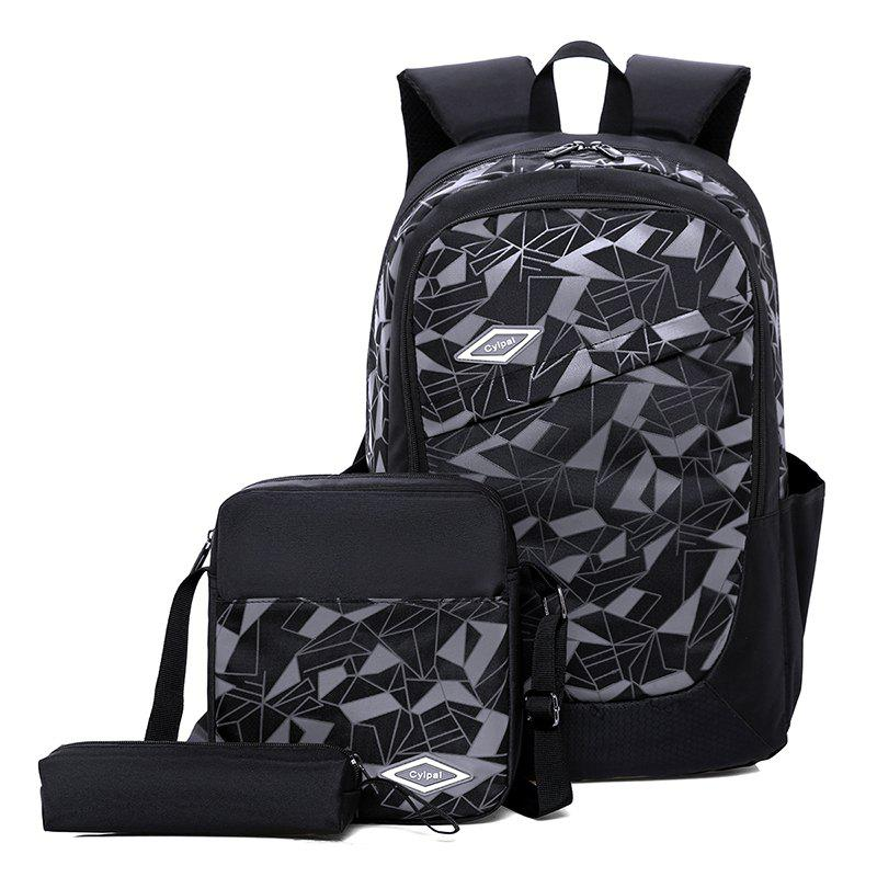 Student High-Capacity Fashion Bag Backpack - BLACK