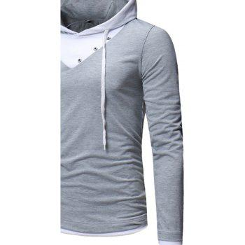 New Fashion Men's Hat Color Casual Long-Sleeved T-Shirt - PLATINUM 2XL