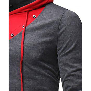 New Fashion Men's Hat Color Casual Long-Sleeved T-Shirt - CARBON GRAY 2XL