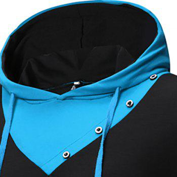 New Fashion Men's Hat Color Casual Long-Sleeved T-Shirt - NIGHT 2XL