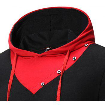 New Fashion Men's Hat Color Casual Long-Sleeved T-Shirt - BLACK L