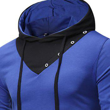 New Fashion Men's Hat Color Casual Long-Sleeved T-Shirt - SAPPHIRE BLUE M