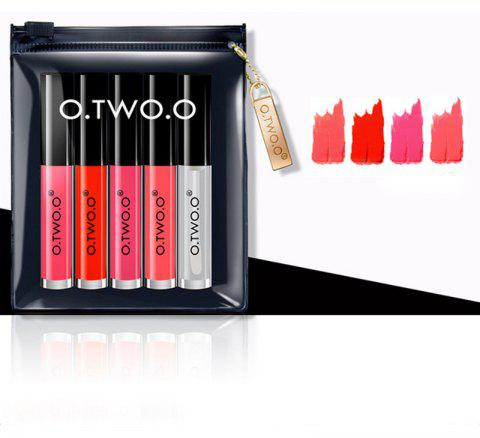 OTWOO Long Lasting Waterproof Soft Texture Lip Gloss Plus Lip Oil Cosmetics Suit - multicolor C