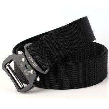 ENNIU Quick Dry Tactical Belt Quick-Release Military Style Shooters Belt with Metal Buckle - BLACK