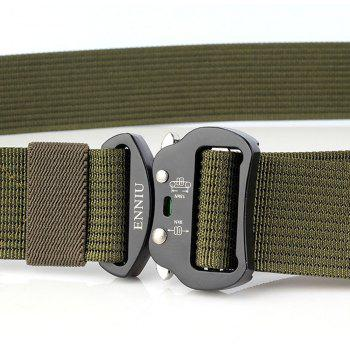 ENNIU Quick Dry Tactical Belt Quick-Release Military Style Shooters Belt with Metal Buckle - GREEN
