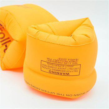 Safety Thickening Double Air Bag Inflatable Swimming Arm Band Ring for Children - ORANGE