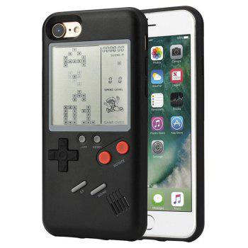 Style Tetris Game Console Phone Shell Case Cover for iphone6 / 6S - BLACK