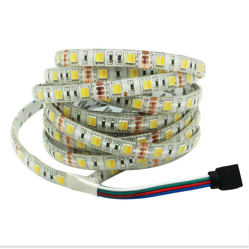 Waterproof 5M LED Strip W+WW SMD 5025 300LEDS 12V Double Color Flexible Light - multicolor W