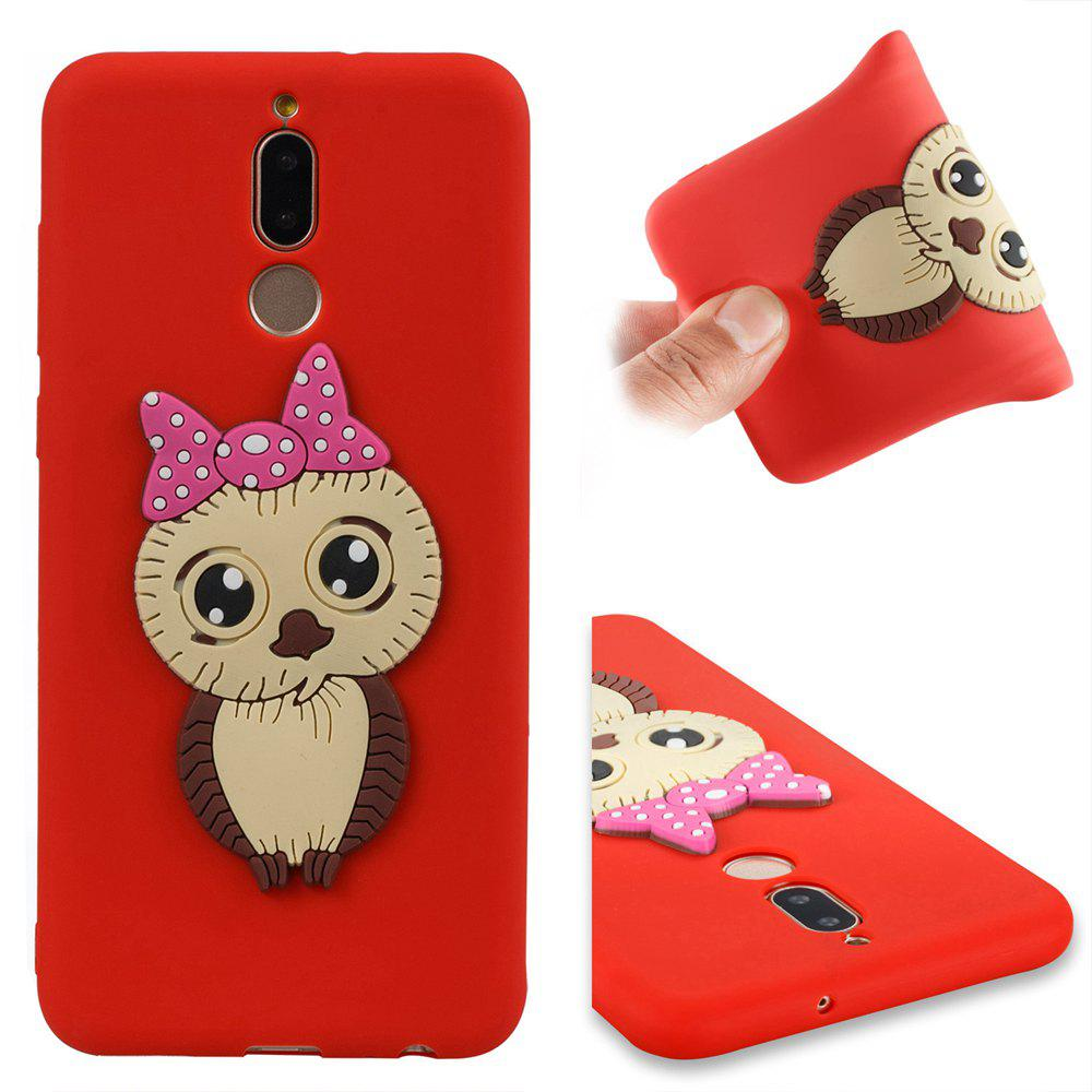 Case for Huawei Mate 10 Lite Owl Soft Shell - RED