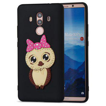 Case for Huawei Mate 10 Pro Owl Soft Shell - BLACK