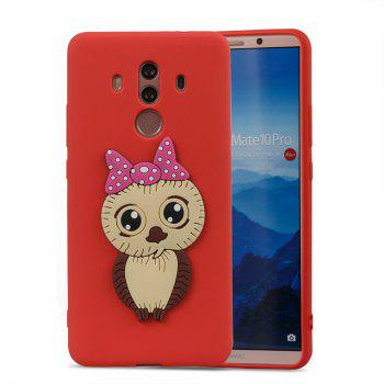 Case for Huawei Mate 10 Pro Owl Soft Shell - RED
