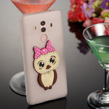 Case for Huawei Mate 10 Pro Owl Soft Shell - MILK WHITE
