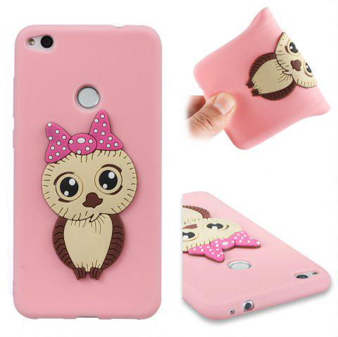 Case for Huawei P8 Lite 2017 Owl Soft Shell - PINK