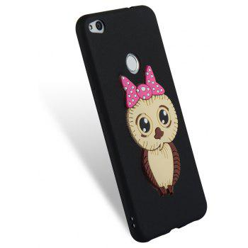 Case for Huawei P8 Lite 2017 Owl Soft Shell - BLACK