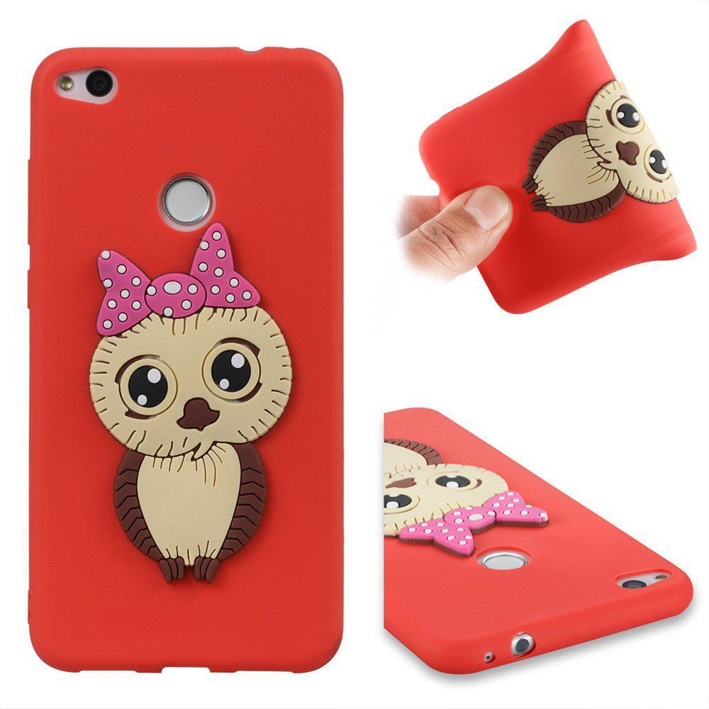 Case for Huawei P8 Lite 2017 Owl Soft Shell - RED