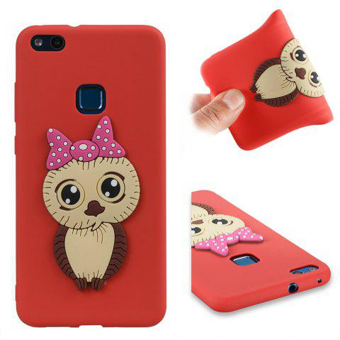 Case for Huawei P10 Lite Owl Soft Shell - RED