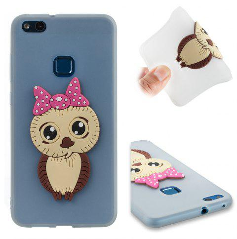 Case for Huawei P10 Lite Owl Soft Shell - MILK WHITE