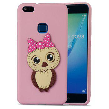 Case for Huawei P10 Lite Owl Soft Shell - PINK